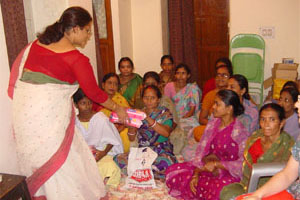 Sanitary napkins distribution