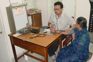 Patient giving feedback