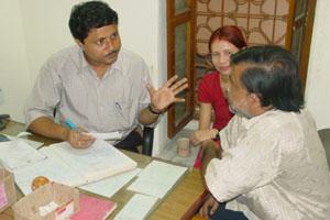Registering a patient