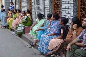 Patients waiting for their turn at the clinic